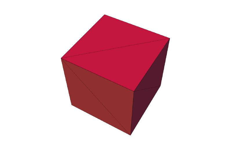 3d model of a cube