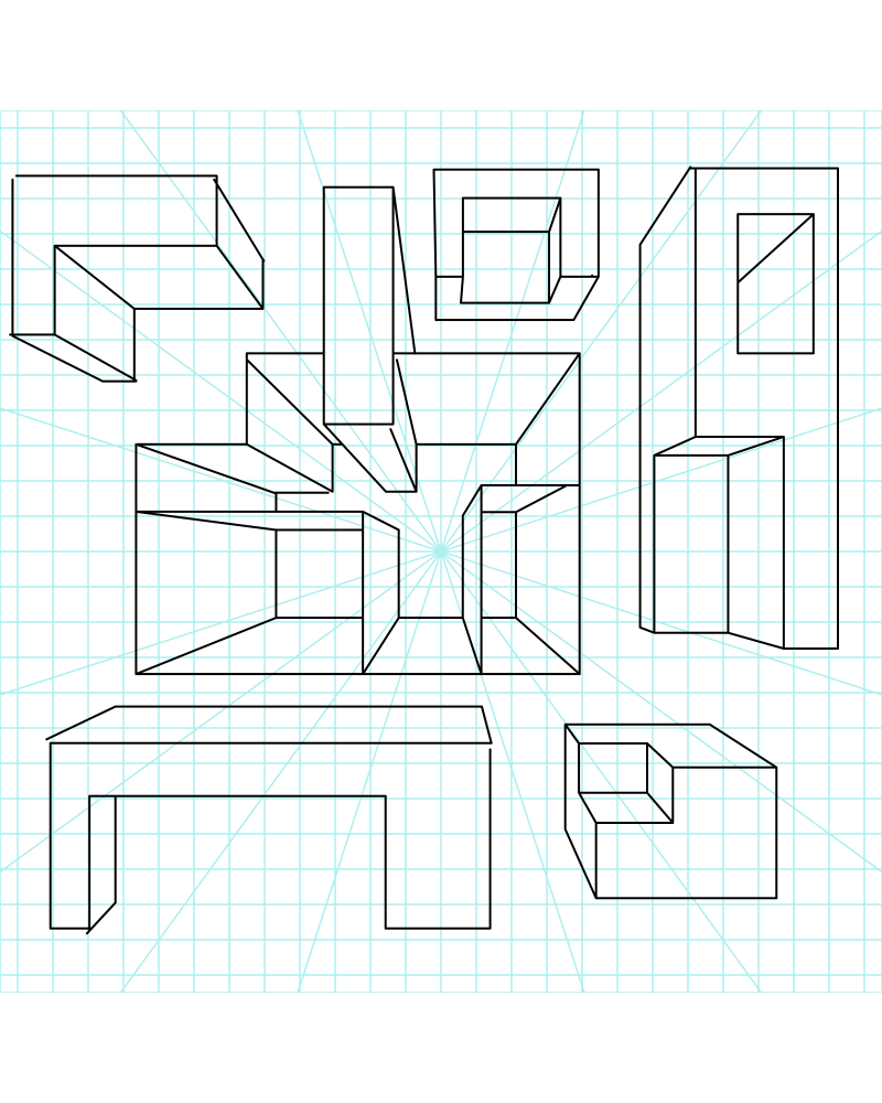 image that shows a perspective grid