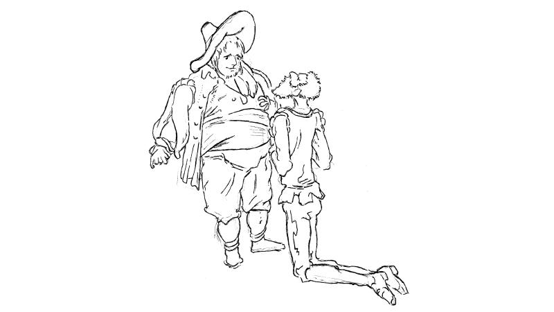 Random illustration inspired by Gustave Dore illustrations.