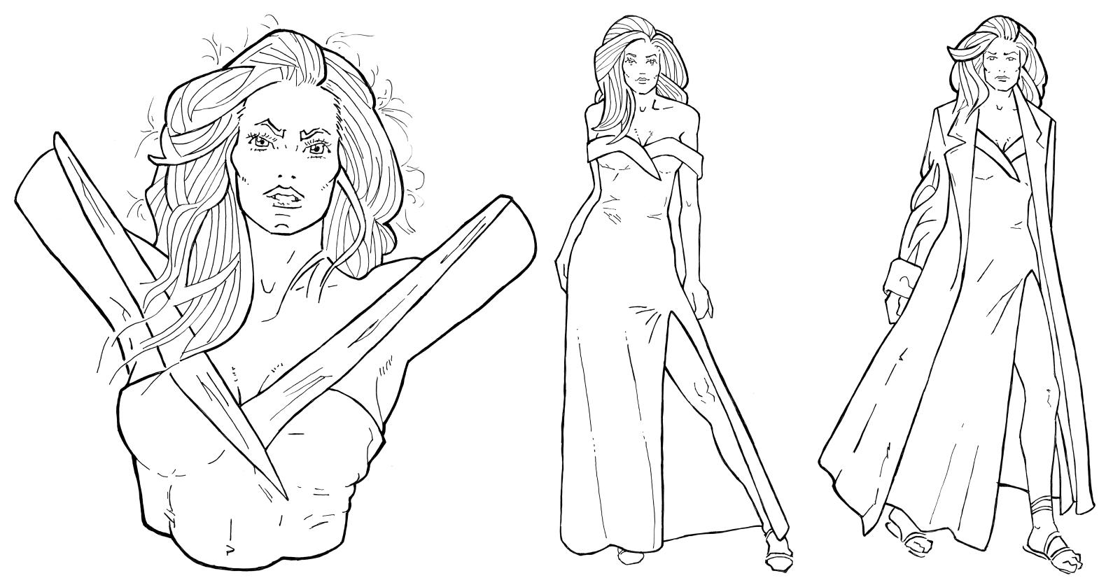 Character design for Linda