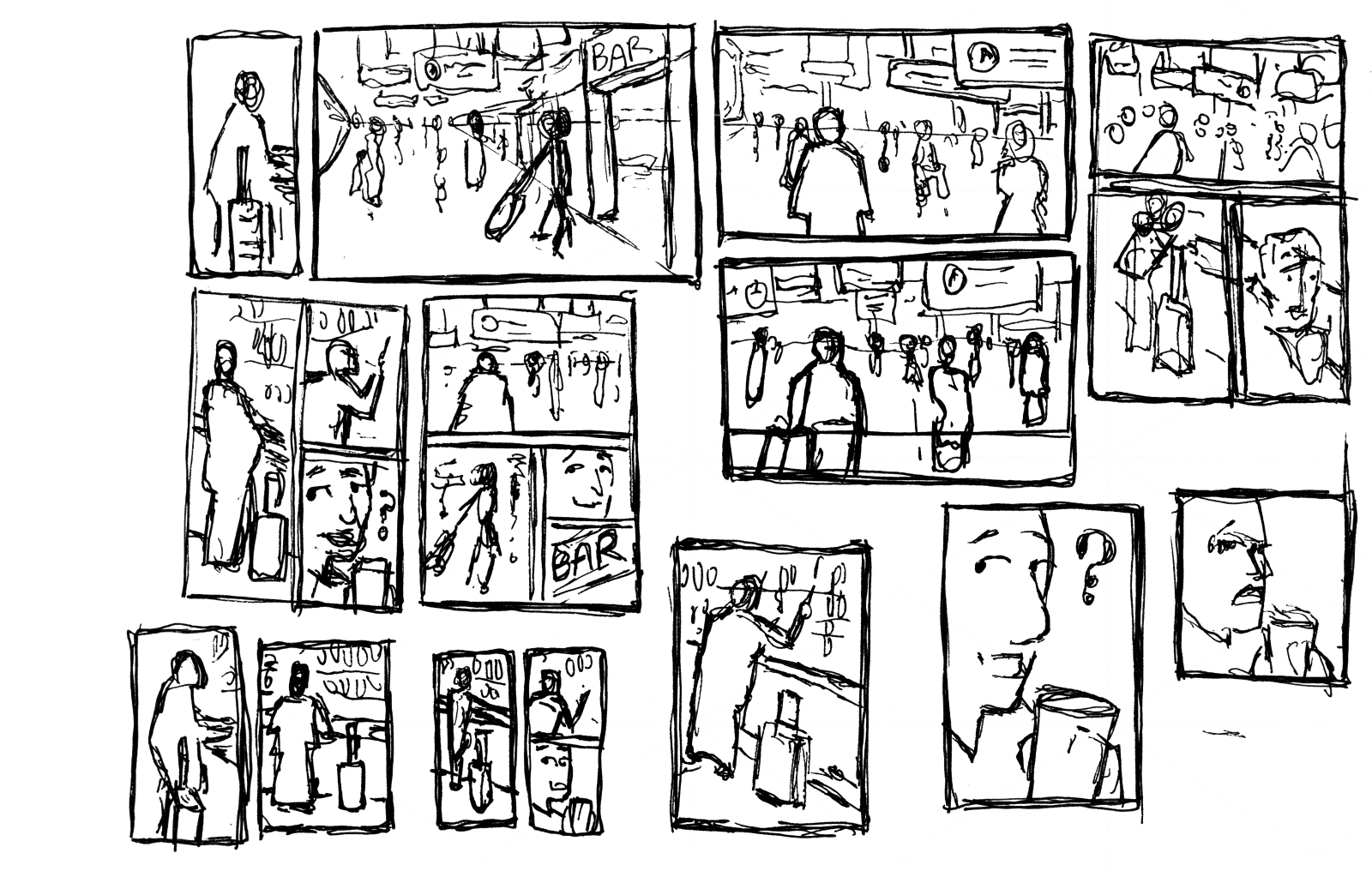 Some examples of thumbnails I did for this script