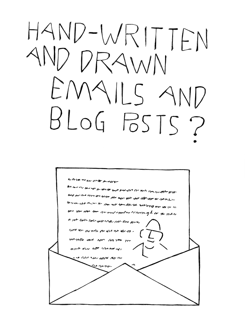 hand-written and drawn blog posts?