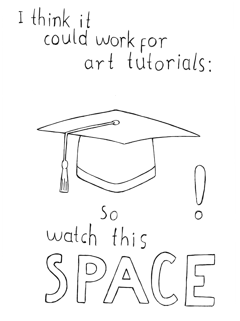 I think it could work for art tutorials: So watch this space!