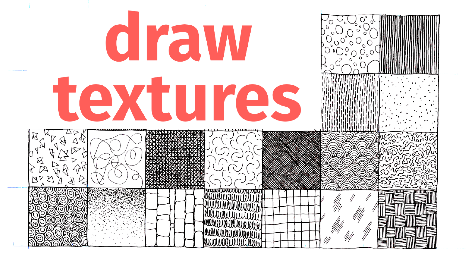 Slide image for the practice drawing textures exercise