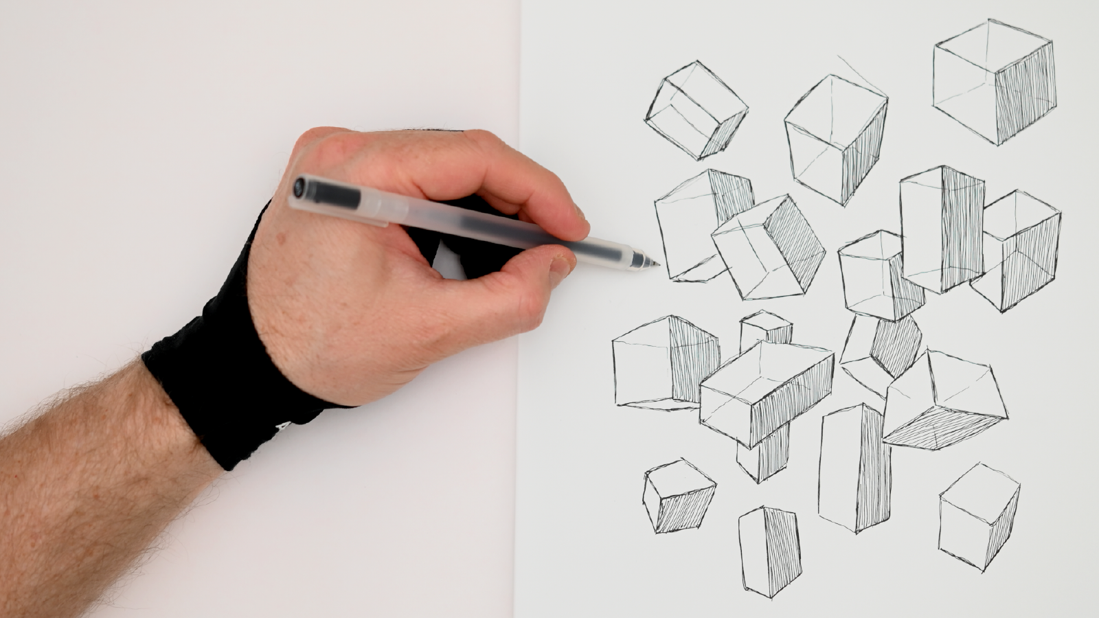 Slide image for How To Draw Boxes - ASMR Pen Drawing, No Talking