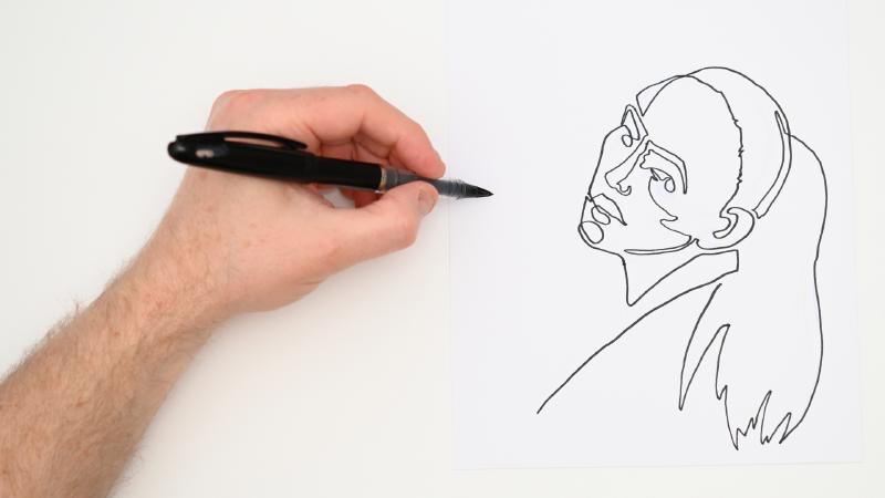 Slide image for the One Line Art Demonstration