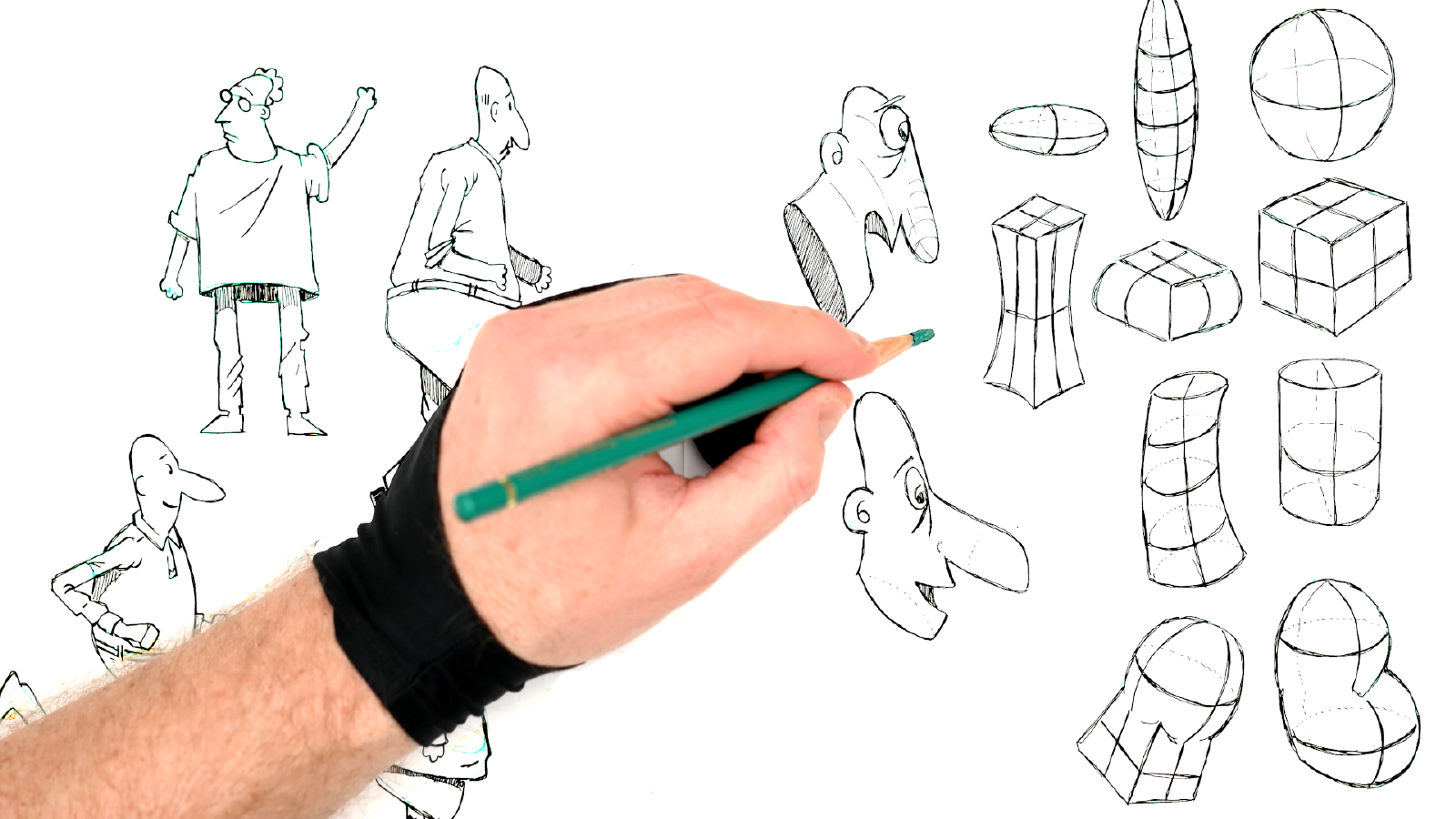 Slide image for the Drawing Organic Forms video