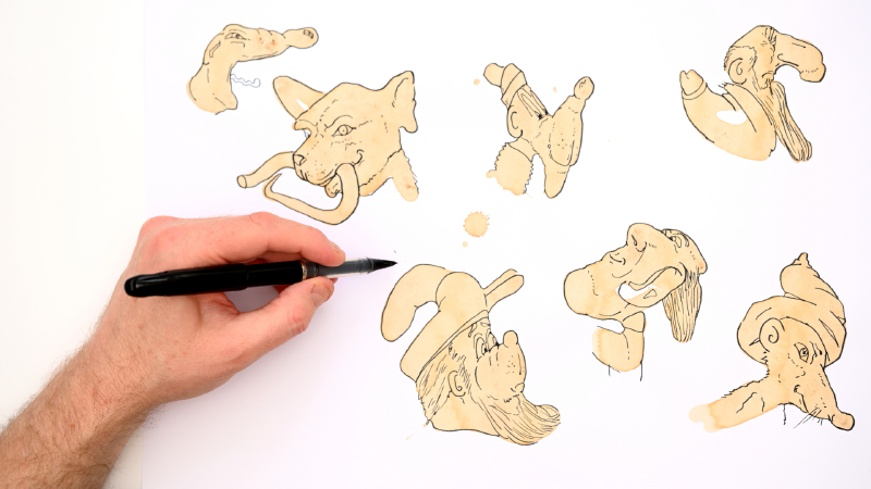 Slide image for the Draw With Coffee Stains Demonstration