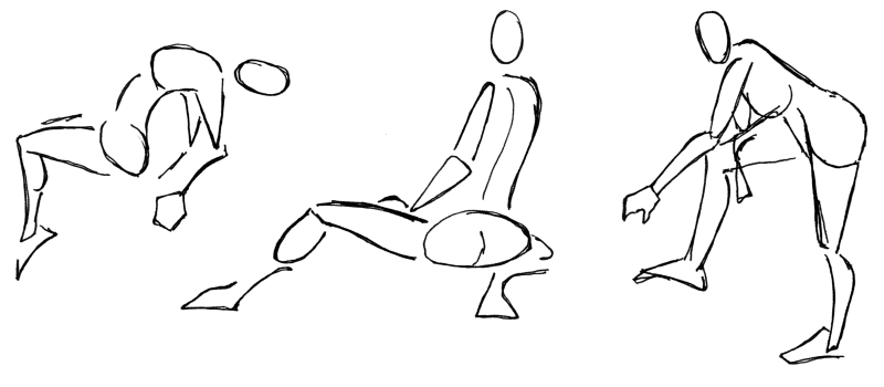 Gesture drawing is a geat warm-up, and it is a way to create dynamic poses.