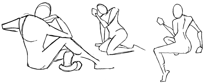 It is not about anatomical correctness, but noting down dynamic poses.