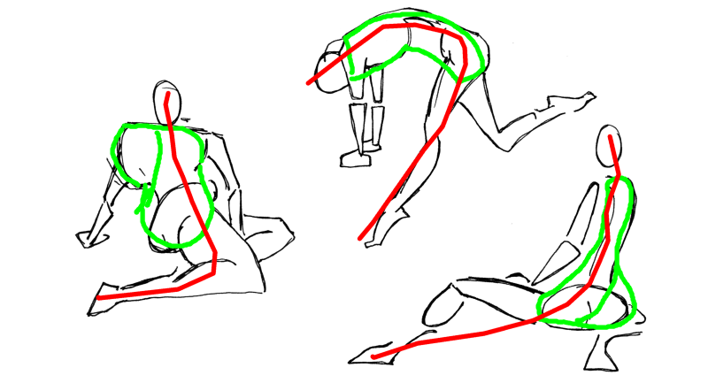 See how the chest/hip contorts, and exaggerate that also.