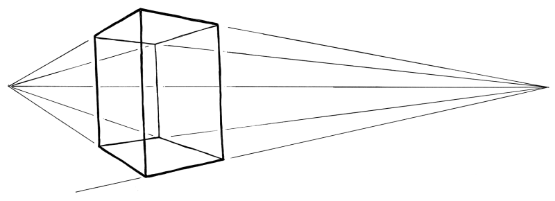 Draw a box in perspective, and apply this to two opposing sides.