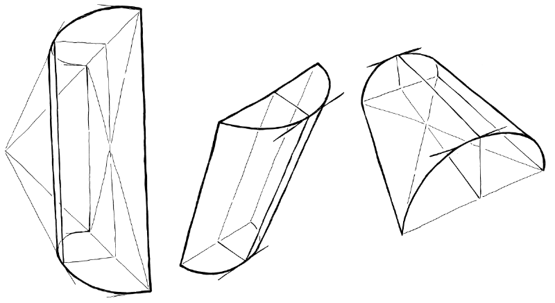 You can also first draw a rectangle in perspective, and construct a curved sheet on top of that.