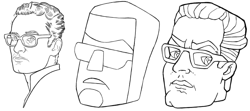 Examples of cartoonified faces.