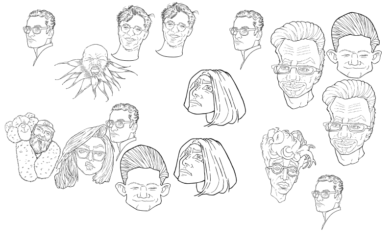 Slide image for the practice cartoonifying faces exercise