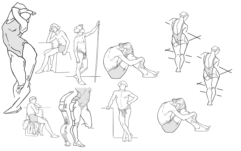 Slide image for the practice drawing from observation
