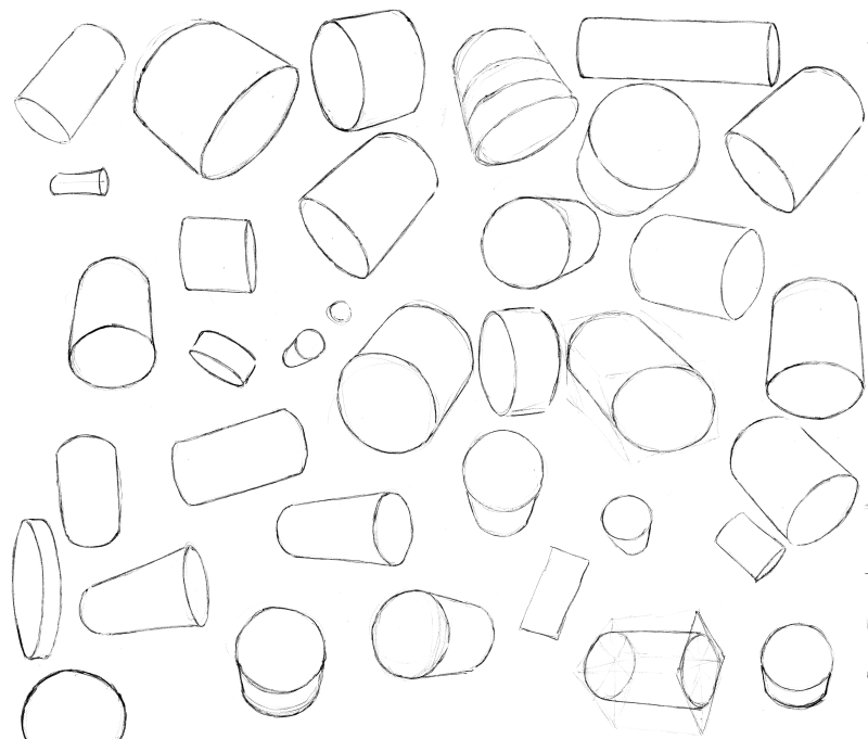 Slide image for the practice drawing small thumbnail design sketches