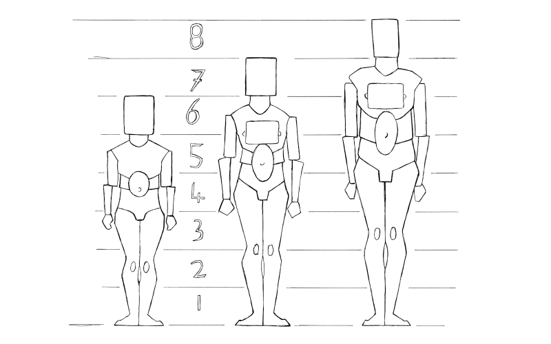 Memorize the average human proportions